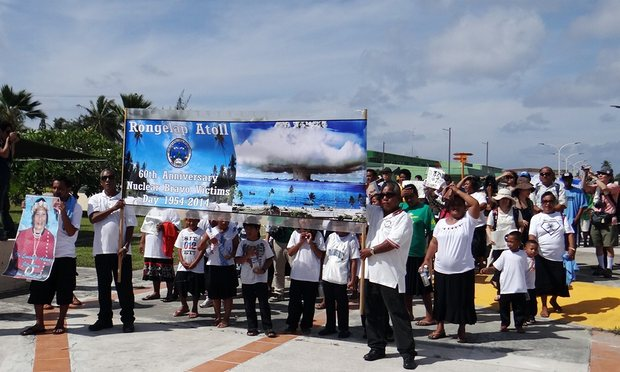 protest march of Bikini Atoll's people